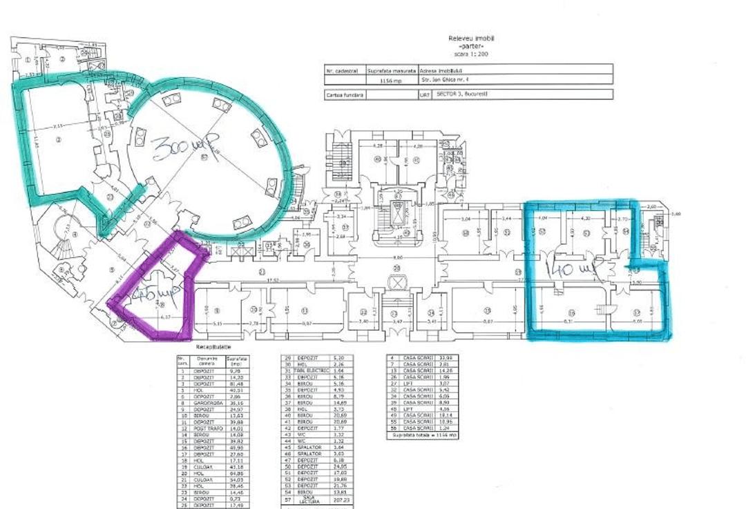Bucuresti centru, inchiriere spatiu comercial CCIB, plan