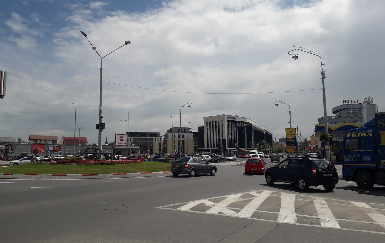 Sibiu centru, inchiriere spatiu comercial Sos. Alba Iulia, poza intersectie