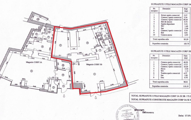 Bucuresti est, inchiriere spatiu comercial Bld. Basarabia, poza plan