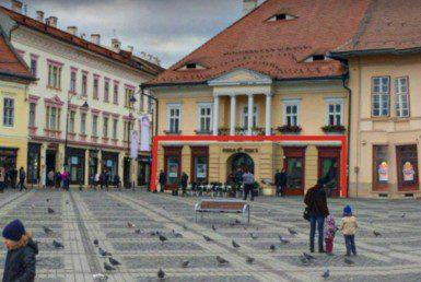 Sibiu centru, inchiriere spatiu comercial Piata Mare, vedere frontala