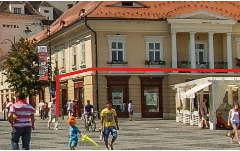 Sibiu Centru, inchiriere spatiu comercial Piata Mare, poza laterala