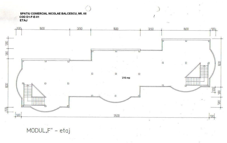 Brasov Centru, inchiriere spatiu comercial Bld. N. Balcescu, poza plan