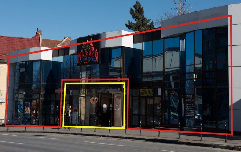 Brasov Centru, inchiriere spatiu comercial Bld. N. Balcescu, vedere frontala