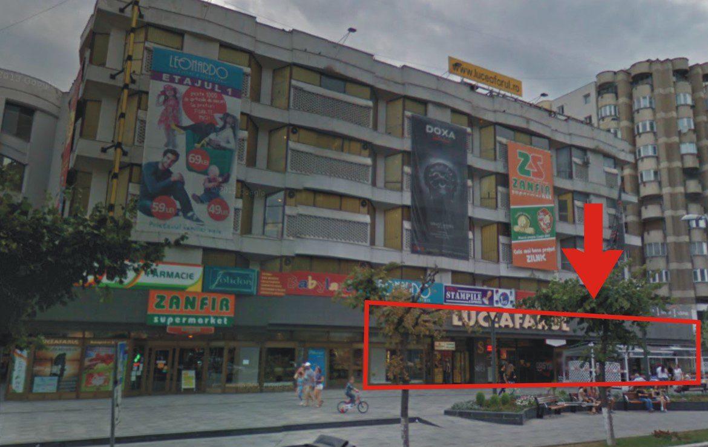 Galati centru, inchiriere spatiu comercial Luceafarul Mall, cladire