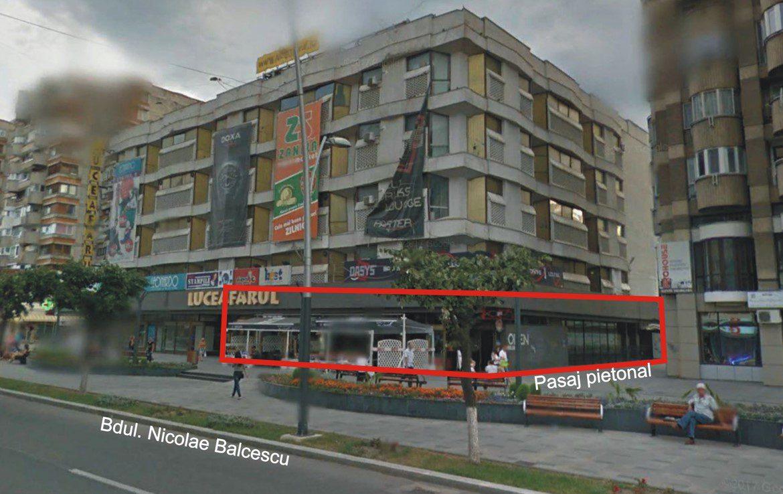 Galati centru, inchiriere spatiu comercial Luceafarul Mall, pasaj pietonal