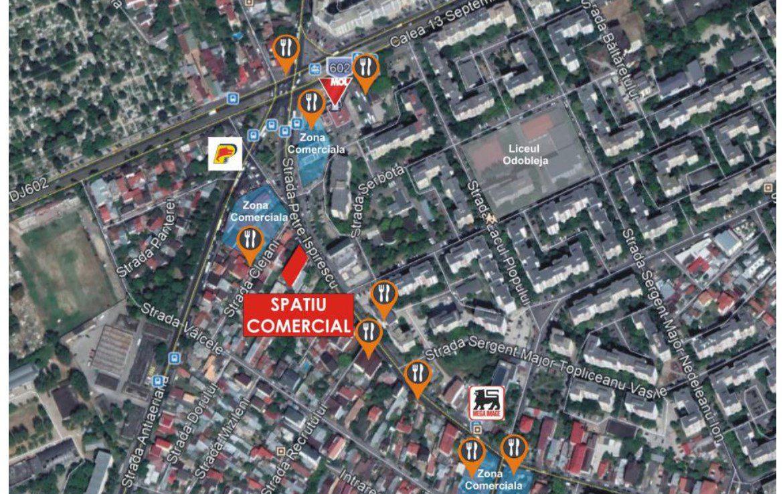Bucuresti vest, inchiriere spatiu comercial Str. P. Ispirescu, poza harta