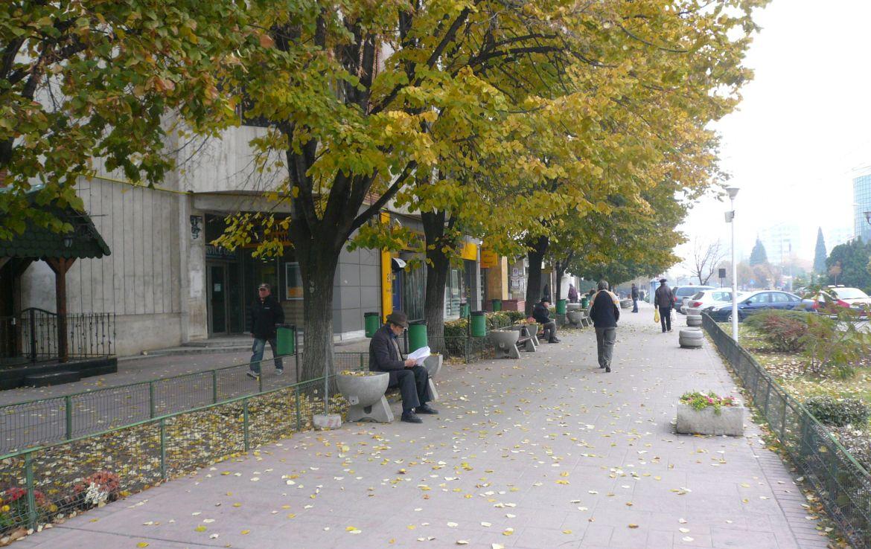 Spatiu comercial de inchiriat Bulevardul Matei Basarab, Slobozia centru, imagine trotuar