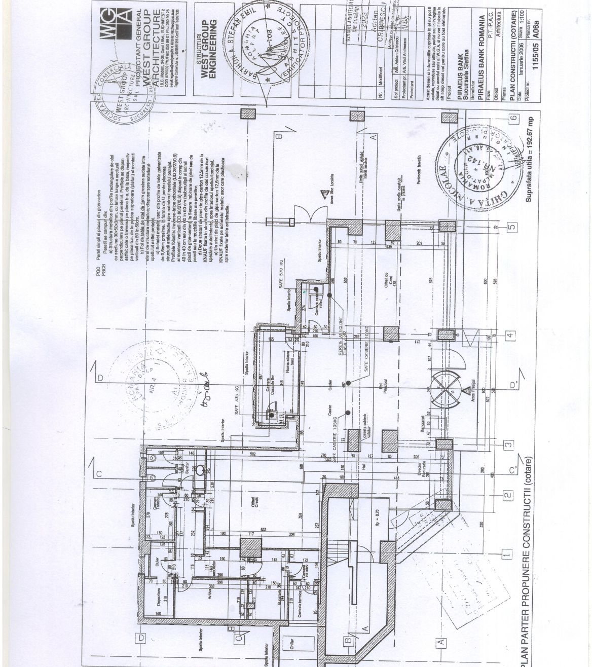 Slatina centru, inchiriere spatiu comercial Bulevardul Alexandru Ioan Cuza, poza plan