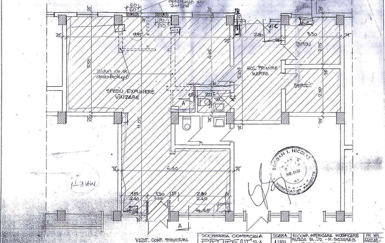 Spatiu comercial de inchiriat Bulevardul Matei Basarab, Slobozia centru, plan