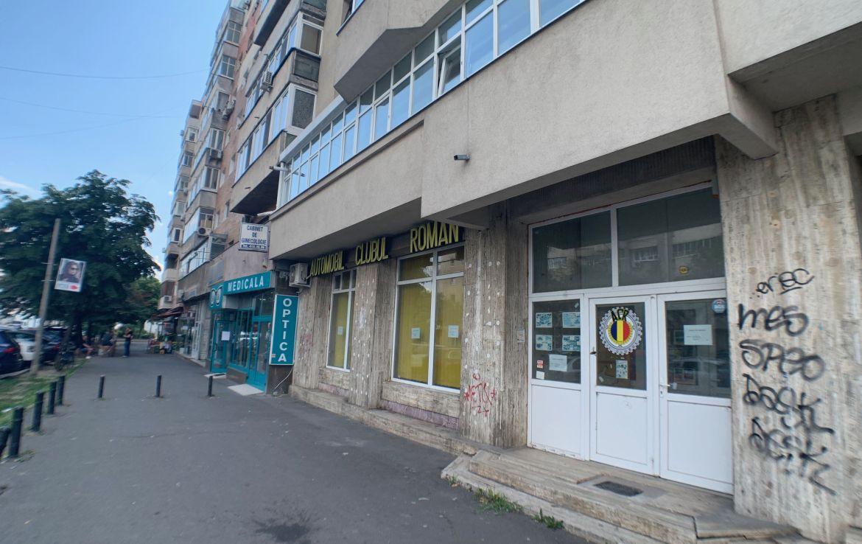 Bucuresti centru, inchiriere spatiu comercial 13 Septembrie, poza laterala vad comercial