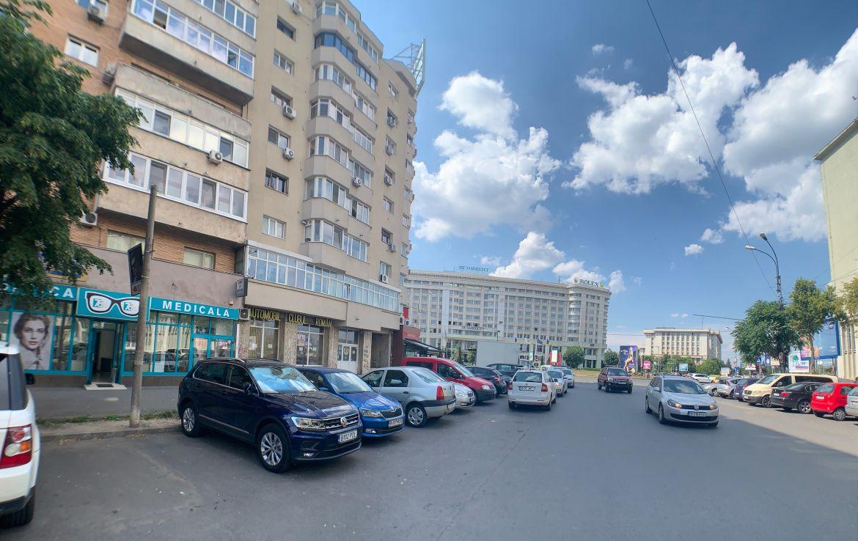 Bucuresti centru, inchiriere spatiu comercial 13 Septembrie, poza catre intersectie
