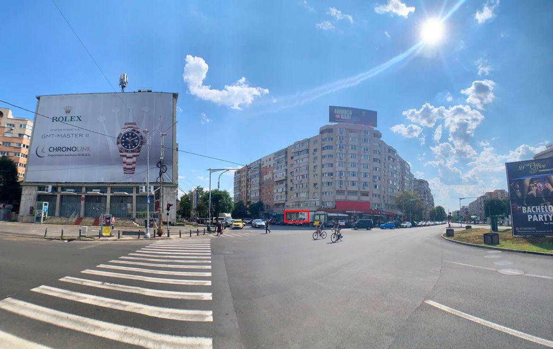 Bucuresti centru, inchiriere spatiu comercial 13 Septembrie, perspectiva intersectie