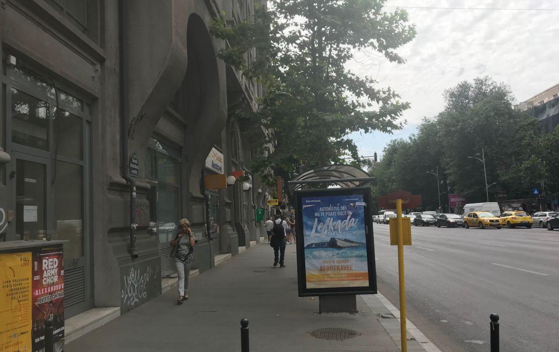 Bucuresti centru, inchiriere spatiu comercial Bulevardul Nicolae Balcescu, poza trotuar