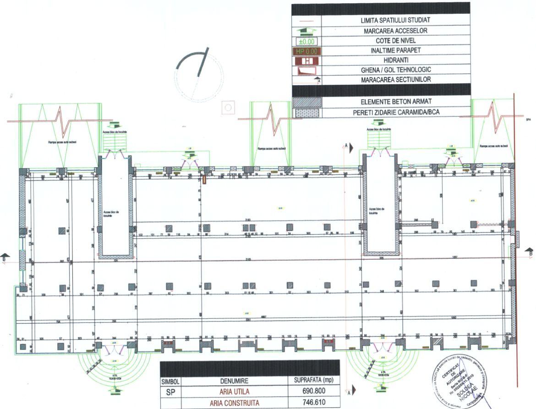 Focsani centru, inchiriere spatiu comercial Focsani, poza plan