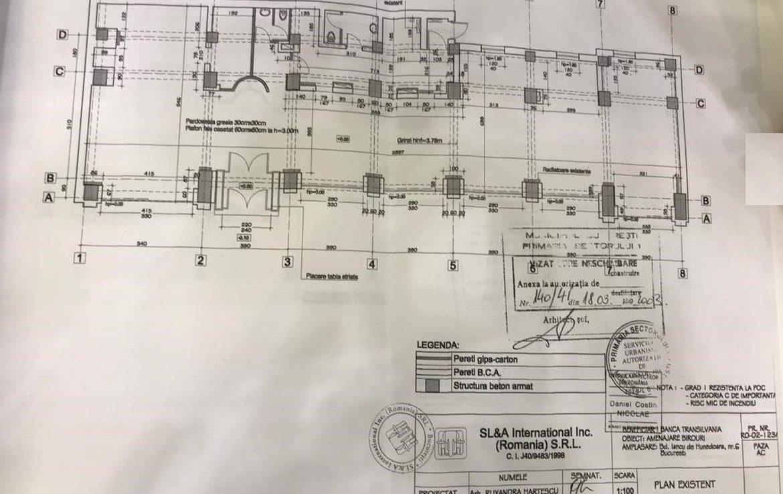 Bucuresti centru, inchiriere spatiu comercial Piata Victoriei, plan spatiu