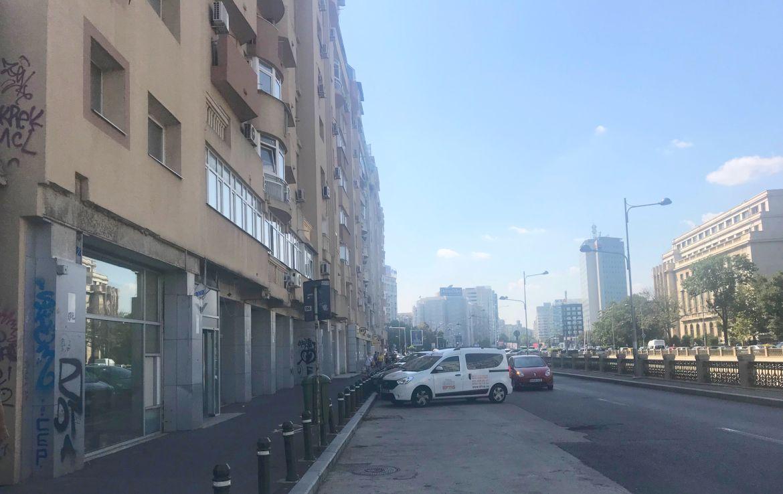 Bucuresti centru, inchiriere spatiu comercial Piata Victoriei, vedere laterala