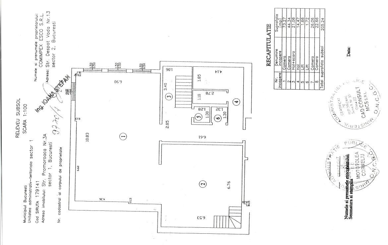 Bucuresti nord, inchiriere spatiu comercial Aviatiei Office Building, poza plan subsol