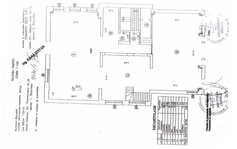 Bucuresti nord, inchiriere spatiu comercial Aviatiei Office Building, poza plan parter