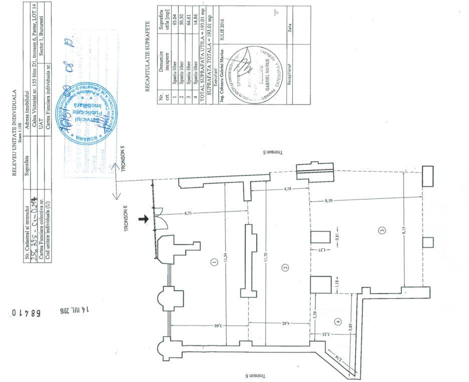 Bucuresti centru, inchiriere spatiu comercial Piata Victoriei, imagine plan