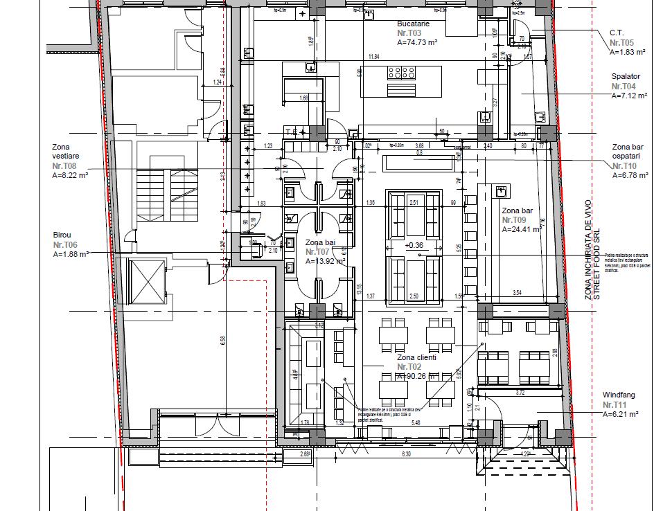 Bucuresti Nord, Inchiriere spatiu comercial Floreasca 60, imagine plan
