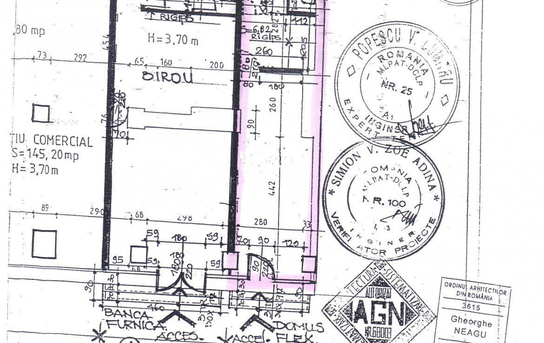 Bucuresti centru, inchiriere spatiu comercial Soseaua Stefan cel Mare, imagine plan